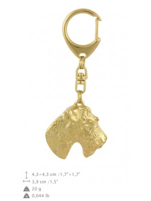 Foksterier - keyring (gold plating) - 864 - 30094