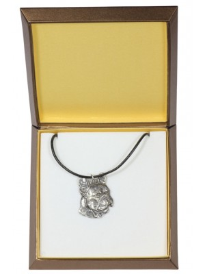 French Bulldog - necklace (silver plate) - 2940 - 31084