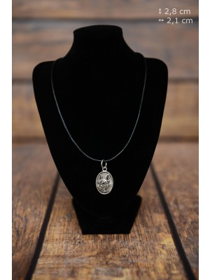 French Bulldog - necklace (silver plate) - 3424 - 34862