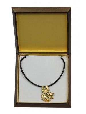 German Shepherd - necklace (gold plating) - 2468 - 27627