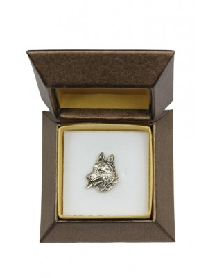 German Shepherd - pin (silver plate) - 2658 - 28940