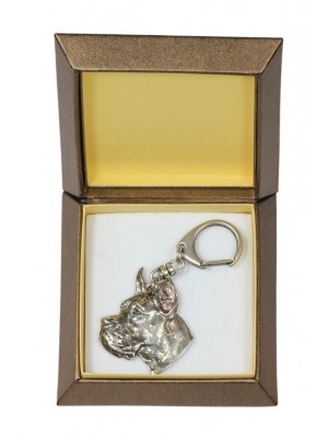 Great Dane - keyring (silver plate) - 2712 - 29831