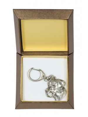 Great Dane - keyring (silver plate) - 2743 - 29862