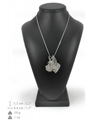 Great Dane - necklace (silver chain) - 3260 - 34197