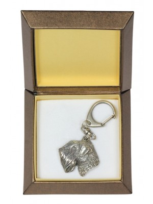 Irish Soft Coated Wheaten Terrier - keyring (silver plate) - 2814 - 29937