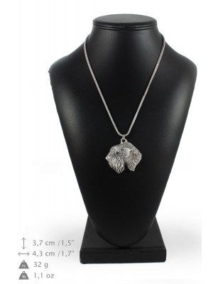 Irish Soft Coated Wheaten Terrier - necklace (silver chain) - 3370 - 34628