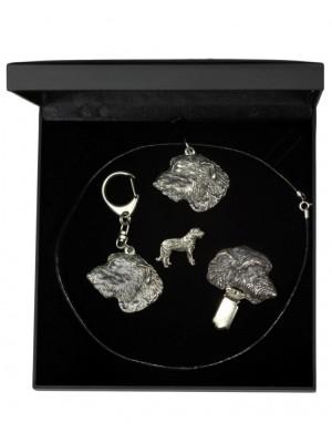 Irish Wolfhound - keyring (silver plate) - 1906 - 13816
