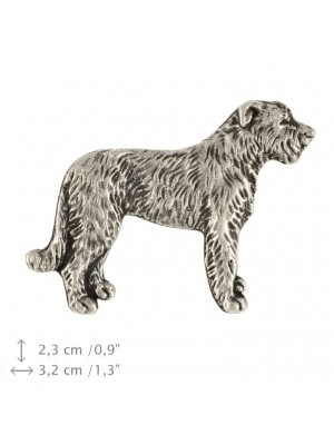 Irish Wolfhound - pin (silver plate) - 453 - 25912