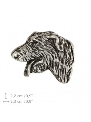 Irish Wolfhound - pin (silver plate) - 459 - 25943