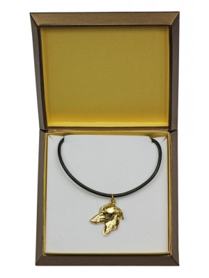 Italian Greyhound - necklace (gold plating) - 2514 - 27673
