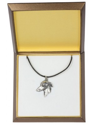 Italian Greyhound - necklace (silver plate) - 2979 - 31122