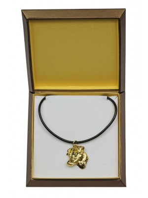 Jack Russel Terrier - necklace (gold plating) - 2509 - 27668