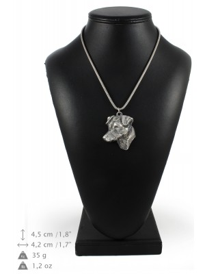 Jack Russel Terrier - necklace (silver chain) - 3339 - 34488