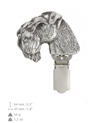 Kerry Blue Terrier - clip (silver plate) - 295 - 26408