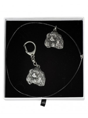 King Charles Spaniel - keyring (silver plate) - 1981 - 15495