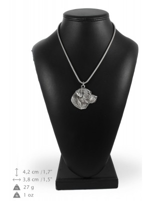 Labrador Retriever - necklace (silver chain) - 3313 - 34436