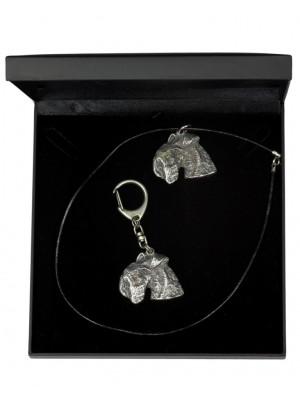 Lakeland Terrier - keyring (silver plate) - 1846 - 12583