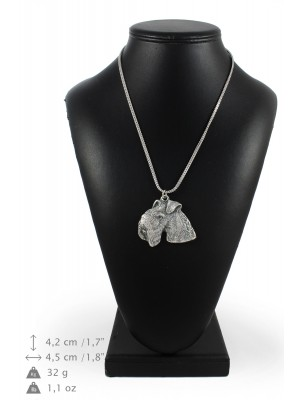 Lakeland Terrier - necklace (silver chain) - 3369 - 34627