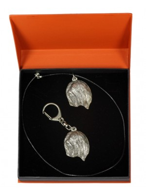 Lhasa Apso - keyring (silver plate) - 2202 - 21202
