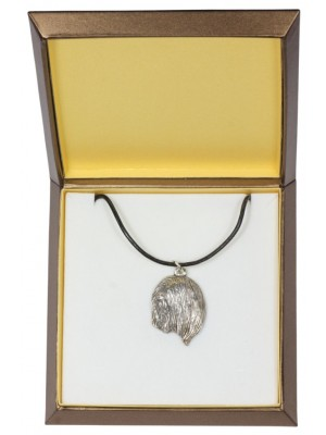 Lhasa Apso - necklace (silver plate) - 2986 - 31129