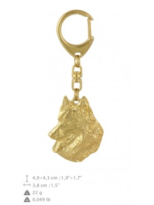 Malinois - keyring (gold plating) - 821 - 30016