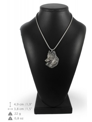 Malinois - necklace (silver chain) - 3304 - 34346
