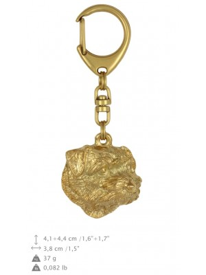 Norfolk Terrier - keyring (gold plating) - 1742 - 25612
