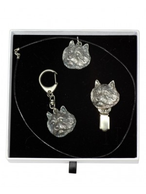 Norwich Terrier - keyring (silver plate) - 2069 - 17782