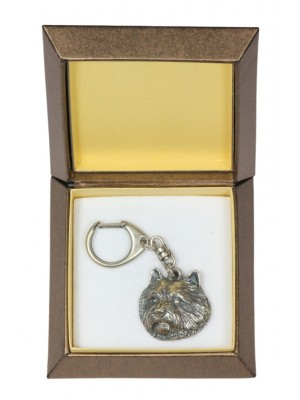 Norwich Terrier - keyring (silver plate) - 2815 - 29938