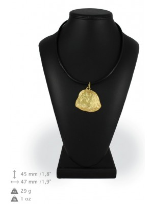 Pekingese - necklace (gold plating) - 990 - 25516
