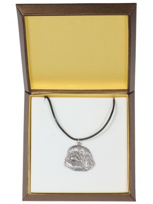 Pekingese - necklace (silver plate) - 2981 - 31124