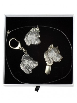 Perro de Presa Canario - keyring (silver plate) - 2068 - 17754