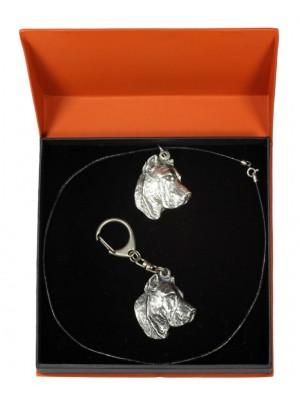 Perro de Presa Canario - keyring (silver plate) - 2186 - 20831