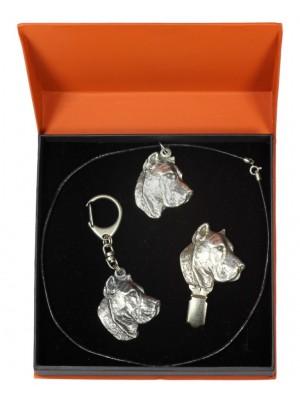Perro de Presa Canario - keyring (silver plate) - 2278 - 23513