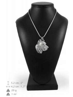 Perro de Presa Canario - necklace (silver chain) - 3340 - 34490