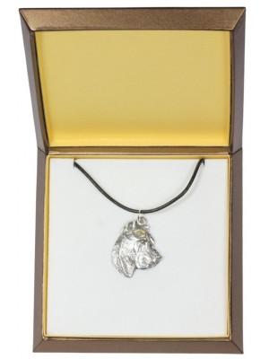 Perro de Presa Canario - necklace (silver plate) - 2971 - 31114