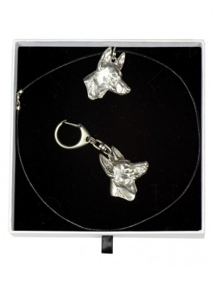 Pharaoh Hound - keyring (silver plate) - 1999 - 15895