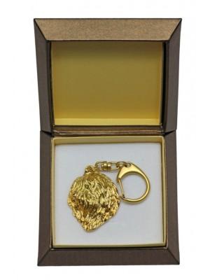 Polish Lowland Sheepdog - keyring (gold plating) - 2448 - 27319
