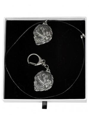Polish Lowland Sheepdog - keyring (silver plate) - 2038 - 16879