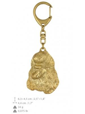 Poodle - keyring (gold plating) - 832 - 25169