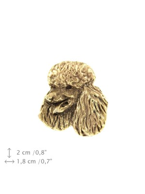 Poodle - pin (gold plating) - 1058 - 7729
