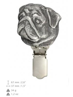 Pug - clip (silver plate) - 276 - 26328