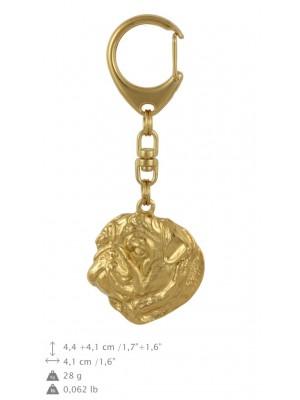 Pug - keyring (gold plating) - 775 - 29070
