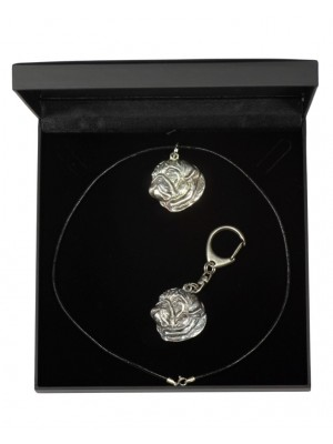 Pug - keyring (silver plate) - 1744 - 11091
