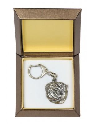 Pug - keyring (silver plate) - 2796 - 29916