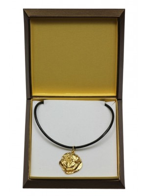 Pug - necklace (gold plating) - 3020 - 31656