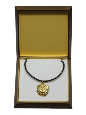 Pug - necklace (gold plating) - 3062 - 31698