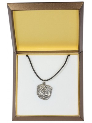 Pug - necklace (silver plate) - 2983 - 31126