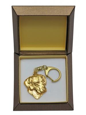 Rhodesian Ridgeback - keyring (gold plating) - 2407 - 27278