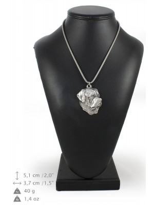 Rottweiler - necklace (silver chain) - 3265 - 34206